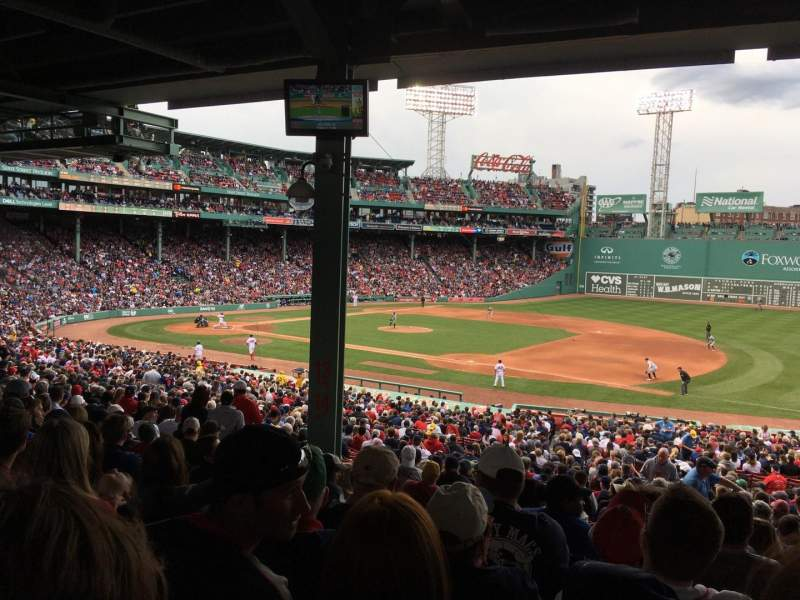 Seating view for Fenway Park Section Grandstand 13 Row 10 Seat 13