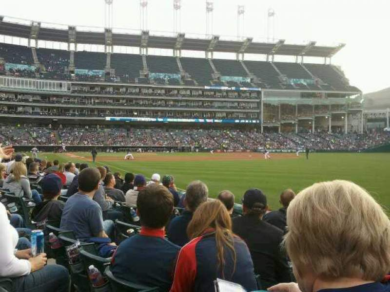 Seating view for Progressive Field Section 117 Row F Seat 7