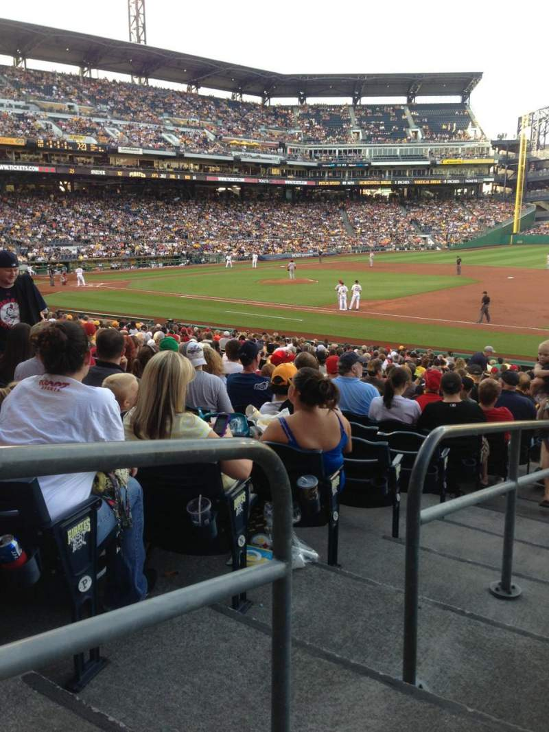 Seating view for PNC Park Section 107 Row R Seat 18