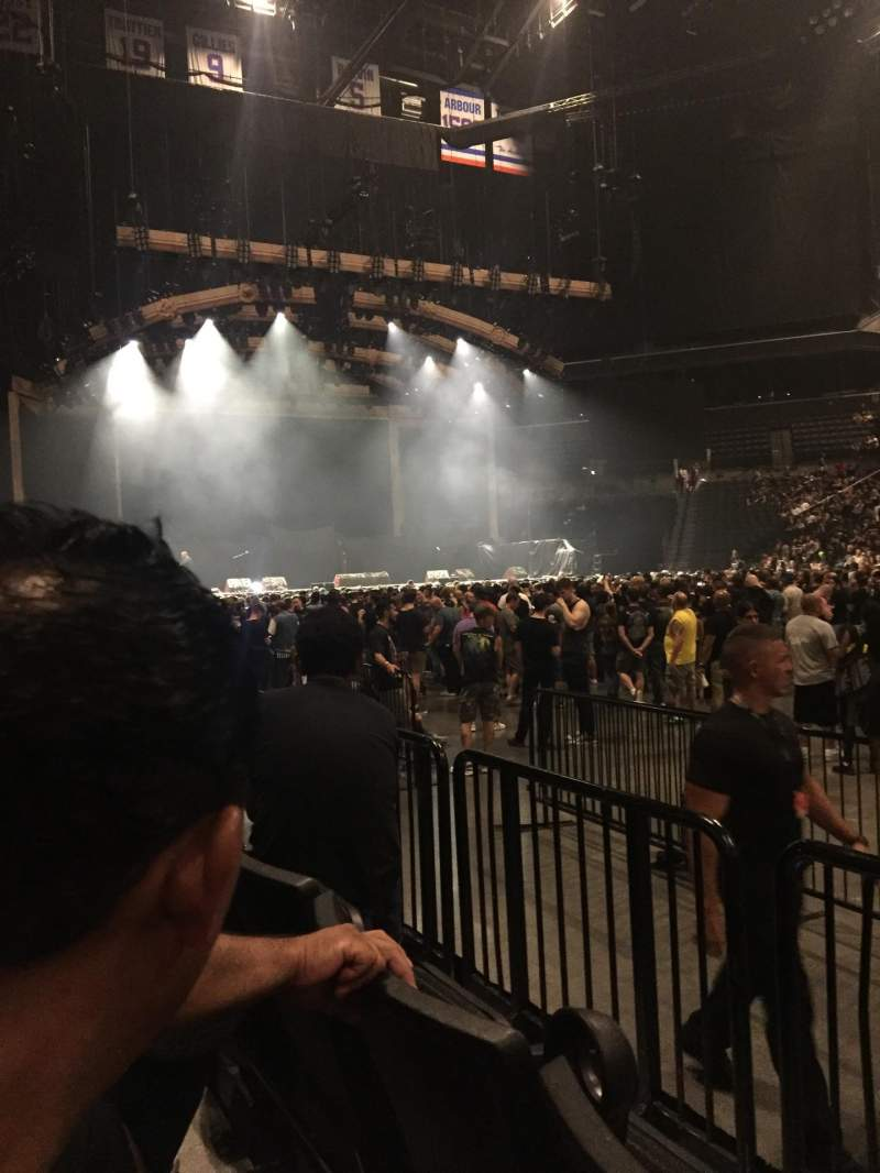 Seating view for Barclays Center Section 23 Row 2 Seat 7