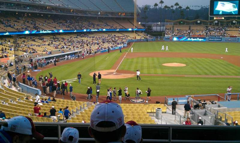 Seating view for Dodger Stadium Section 122LG Row F Seat 5