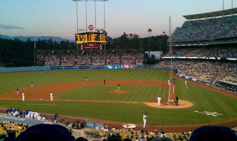 Seating view for Dodger Stadium Section 119LG Row J Seat 1