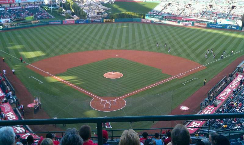 Seating view for Angel Stadium Section V521 Row A Seat 9