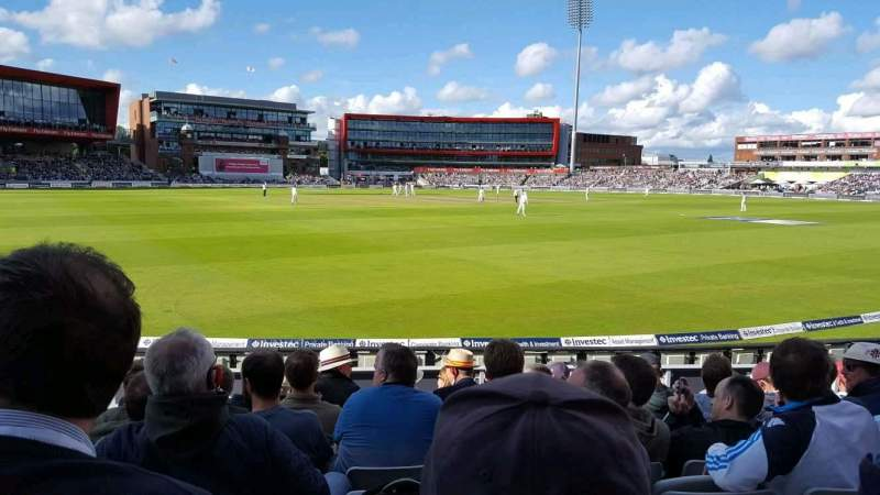 Seating view for Old Trafford Cricket Ground Section A6 Row 11 Seat 211