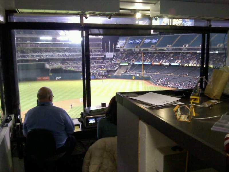 Seating view for Oakland Alameda Coliseum Section Press Box