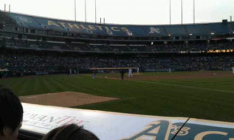 Seating view for Oakland Alameda Coliseum Section 106 Row 2 Seat 10