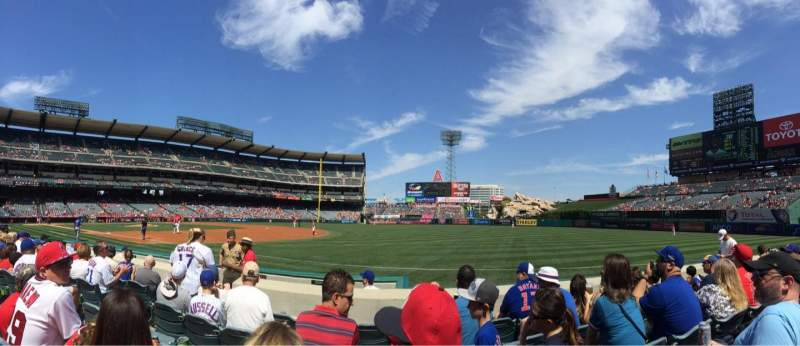 Seating view for Angel Stadium Section F128 Row e Seat 6