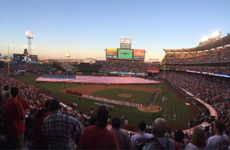 Seating view for Angel Stadium Section C322 Row d Seat 7