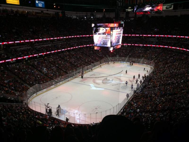 Seating view for Honda Center Section 419 Row K Seat 8