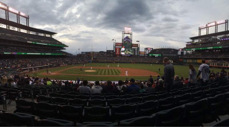 Seating view for Coors Field Section 123 Row 23 Seat 11