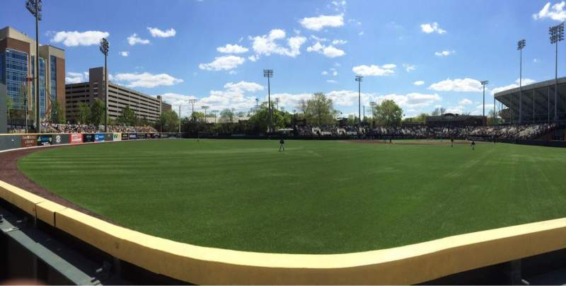 Seating view for Hawkins Field Section n Row 1 Seat 1