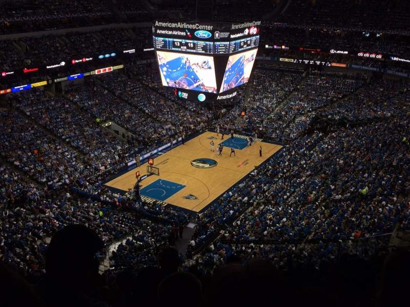 Seating view for American Airlines Center Section 315 Row n Seat 9