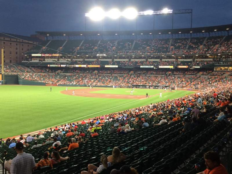 Seating view for Oriole Park at Camden Yards Section 73 Row 1 Seat 1