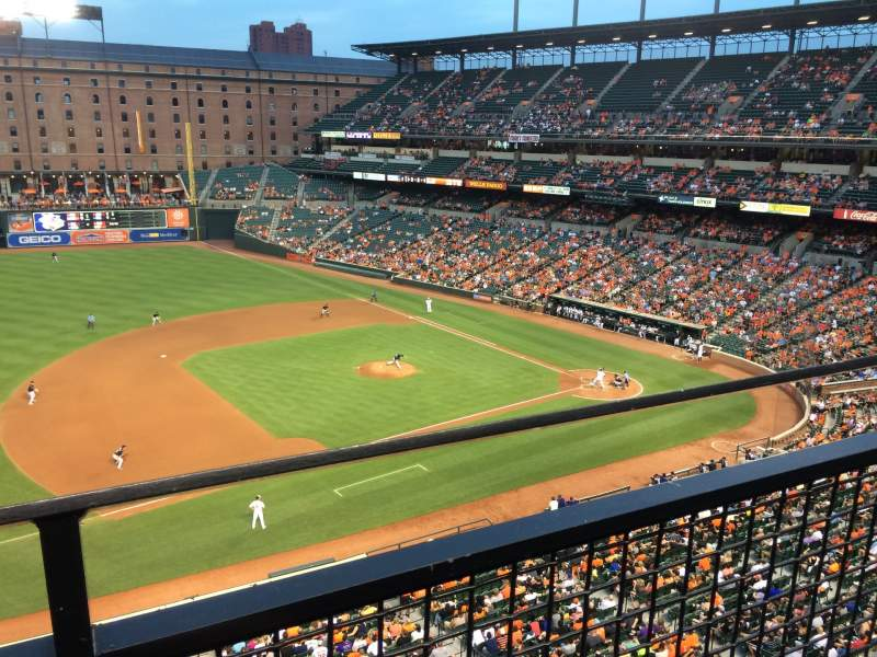 Seating view for Oriole Park at Camden Yards Section 358 Row 1 Seat 9