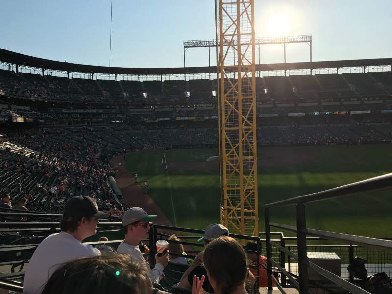 Seating view for Oriole Park at Camden Yards Section 1 Row 5 Seat 1