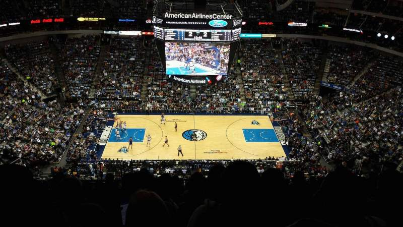 Seating view for American Airlines Center Section 326 Row T Seat 13