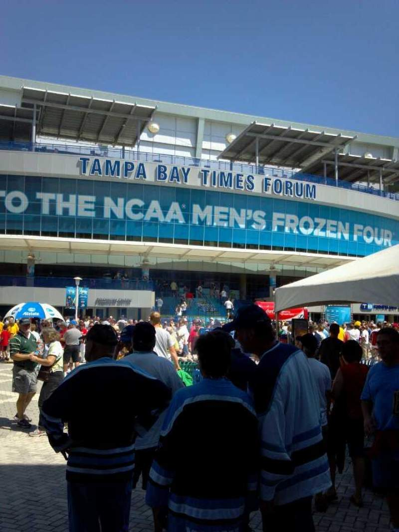 Seating view for Amalie Arena Section Outdoor
