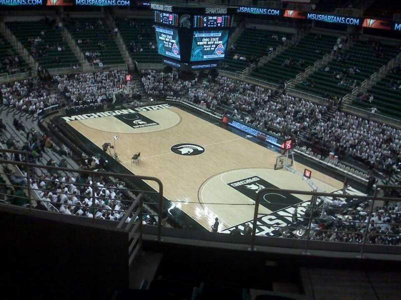 Seating view for Breslin Center Section 222 Row 6 Seat 104