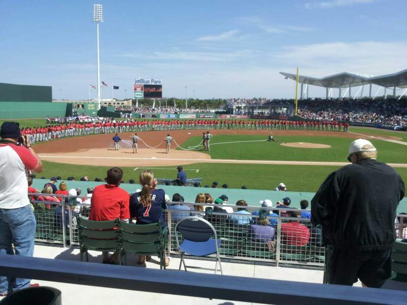 Seating view for JetBlue Park Section 208 Row 1 Seat 15