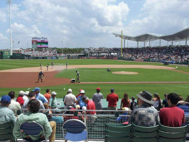 Seating view for JetBlue Park Section 208 Row 1 Seat 16