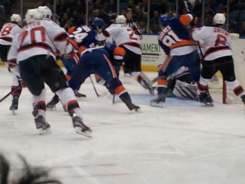 Seating view for Nassau Veterans Memorial Coliseum Section 114 Row a Seat 1