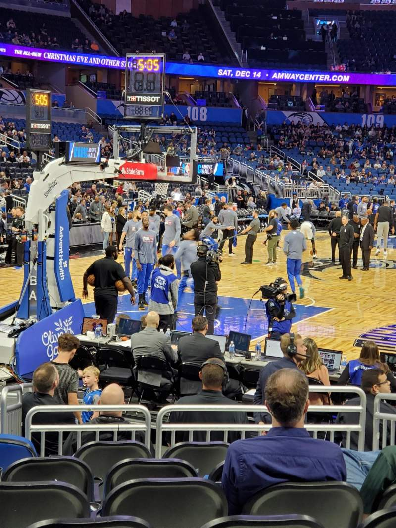 Seating view for Amway Center Section 118 Row 6 Seat 6