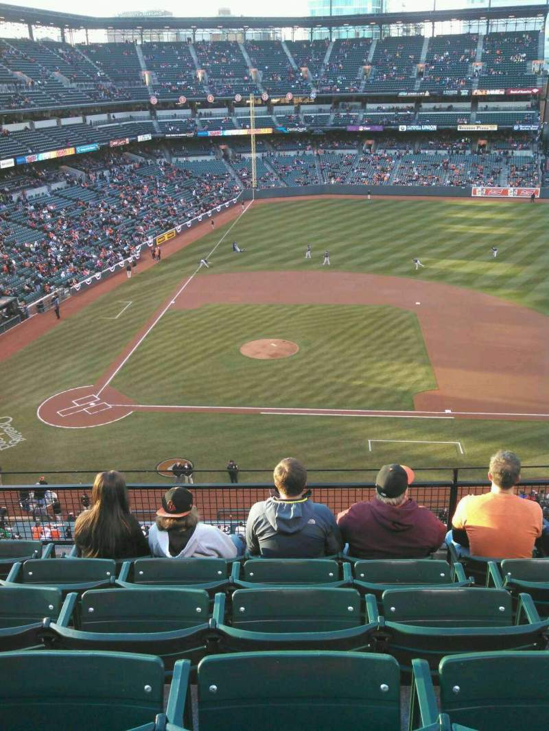 Seating view for Oriole Park at Camden Yards Section 324 Row 6 Seat 6