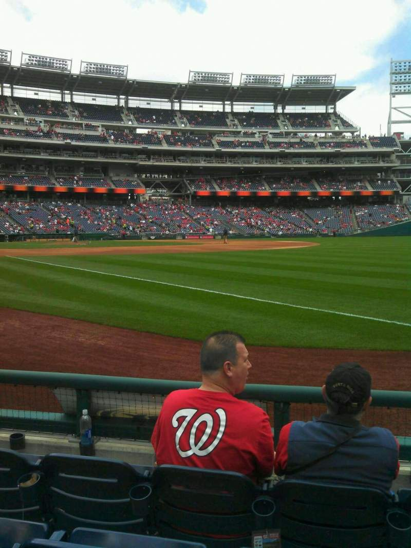 Seating view for Nationals Park Section 135 Row d Seat 3