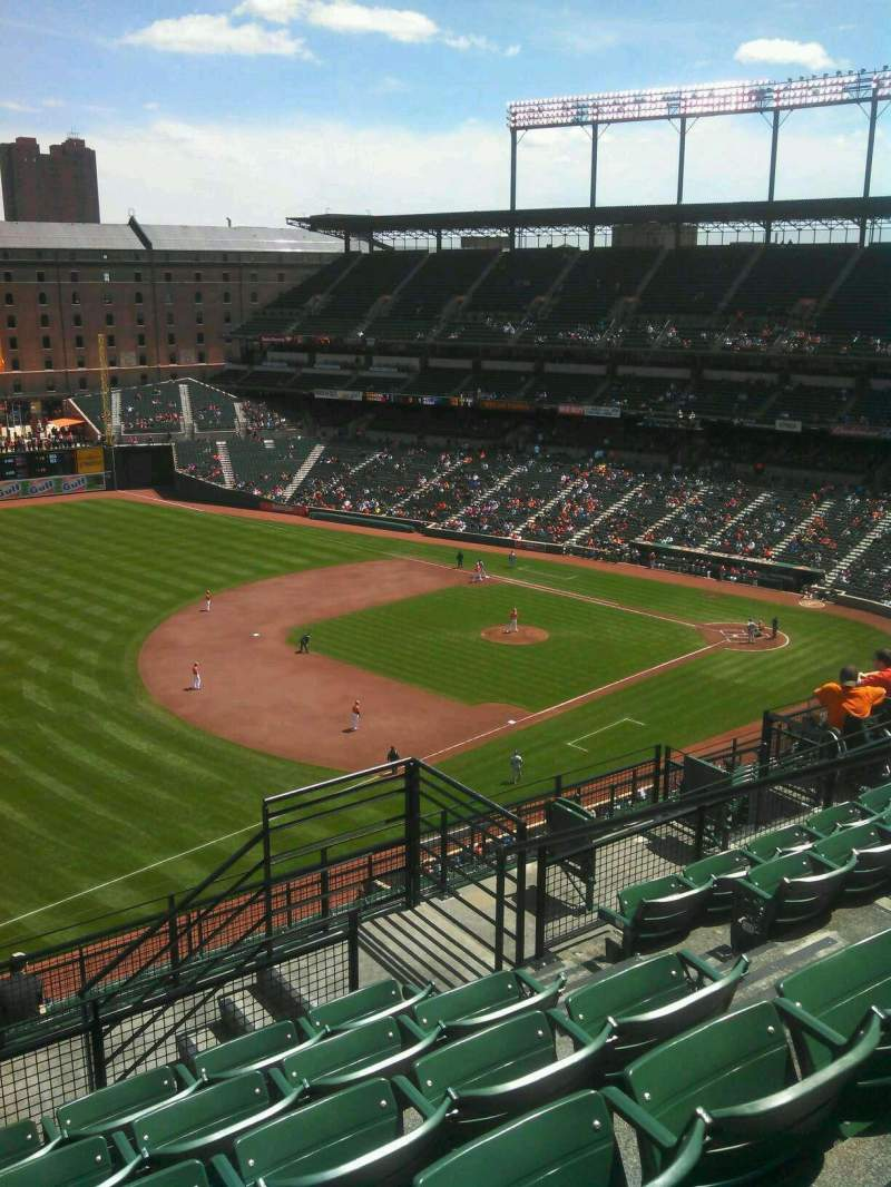 Seating view for Oriole Park at Camden Yards Section 365 Row 15 Seat 1