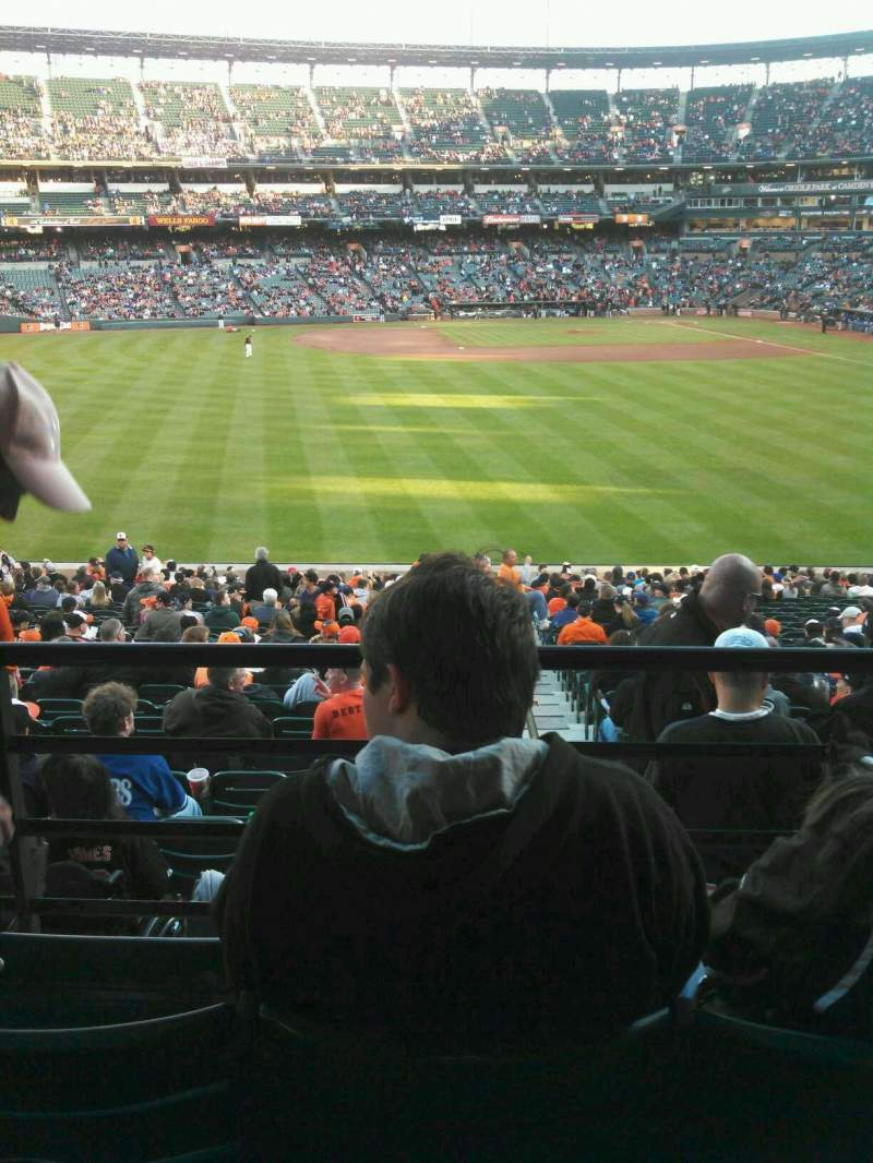Seating view for Oriole Park at Camden Yards Section 85 Row 3 Seat 16