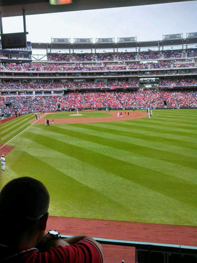 Seating view for Nationals Park Section 138 Row t Seat 5