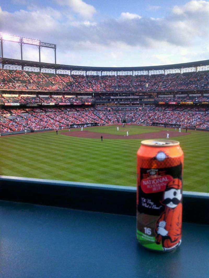 Seating view for Oriole Park at Camden Yards Section CF Roof Deck Row 3 Seat 17