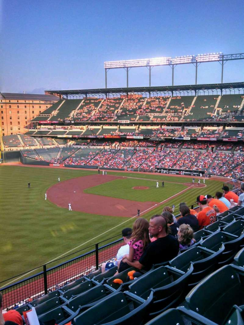 Seating view for Oriole Park at Camden Yards Section 368 Row 6 Seat 19