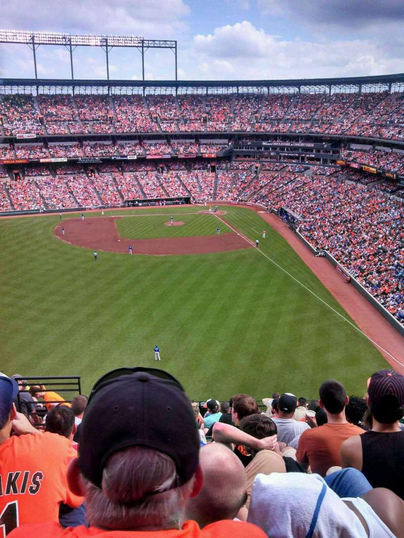 Seating view for Oriole Park at Camden Yards Section 384 Row 15 Seat 17