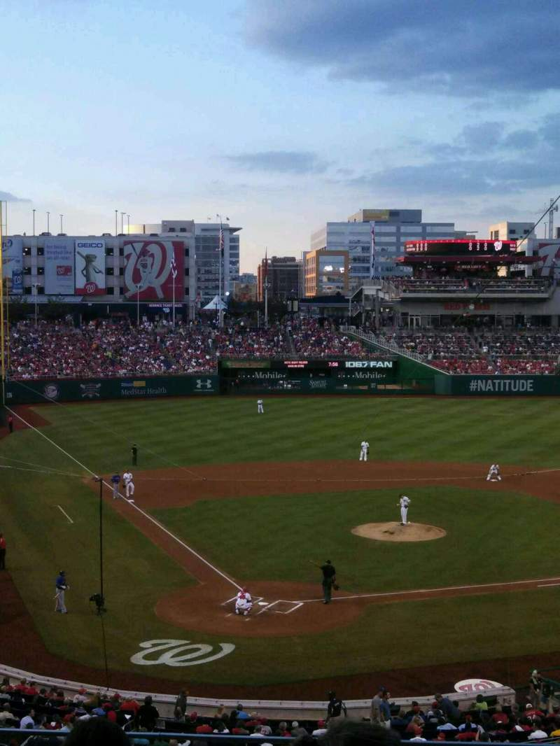 Seating view for Nationals Park Section 216 Row d Seat 14