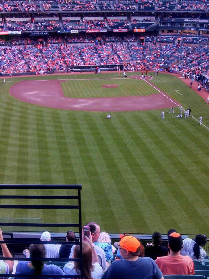 Seating view for Oriole Park at Camden Yards Section 384 Row 11 Seat 16