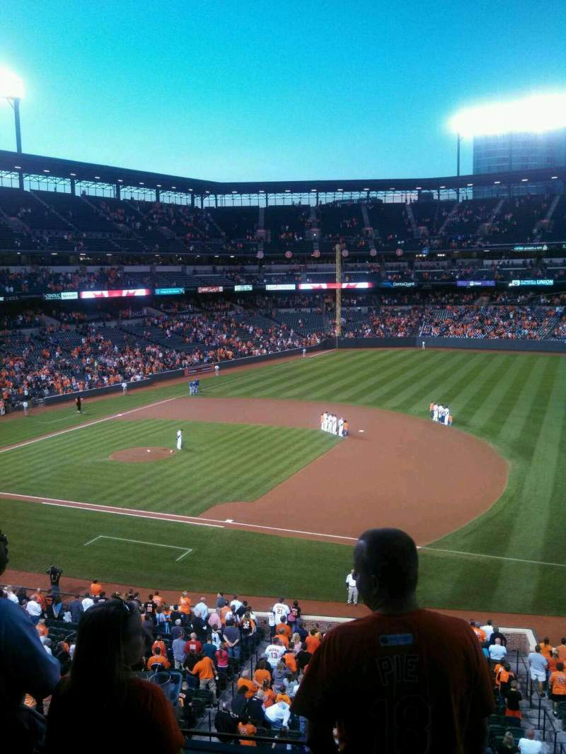 Seating view for Oriole Park at Camden Yards Section 216 Row 4 Seat 15