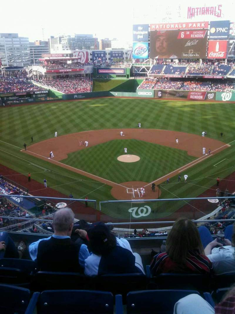 Seating view for Nationals Park Section 313 Row D Seat 9