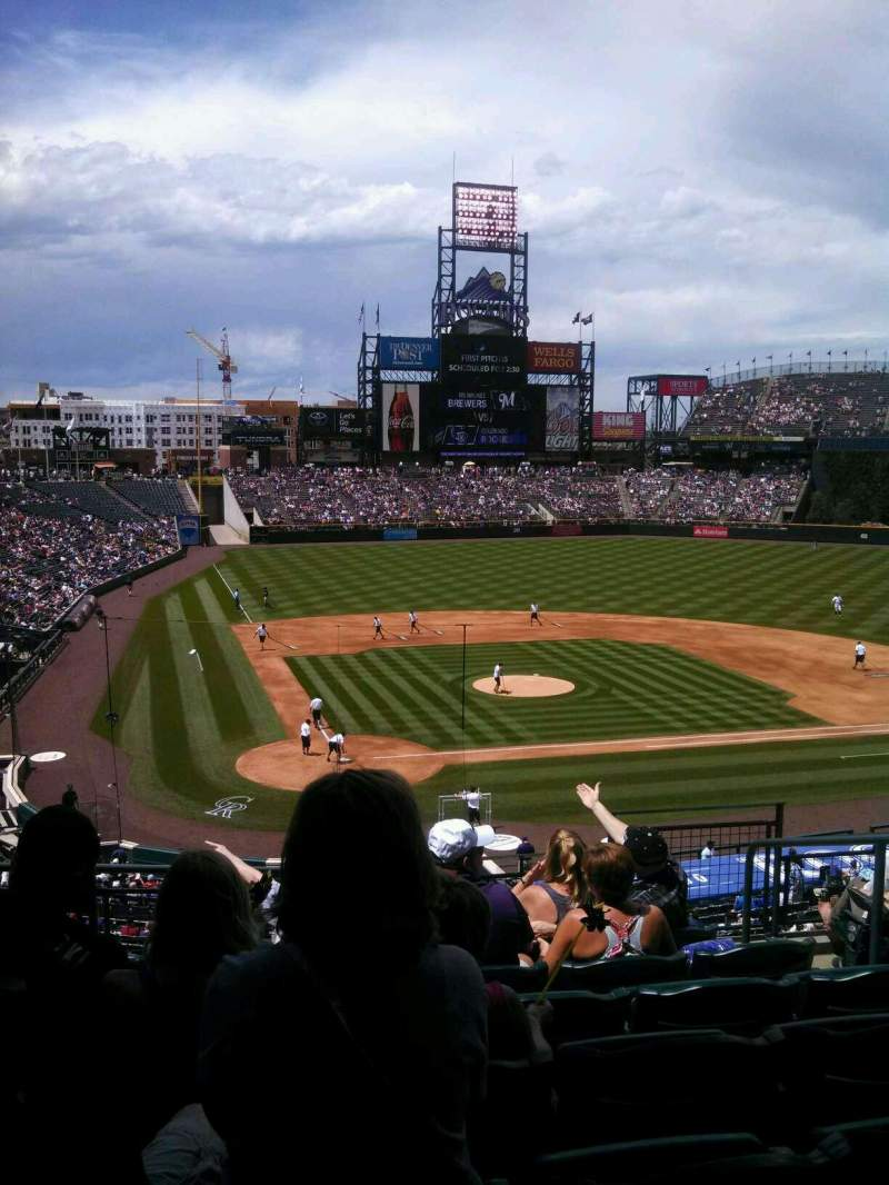 Coors Field, section: 227, row: 8, seat: 5