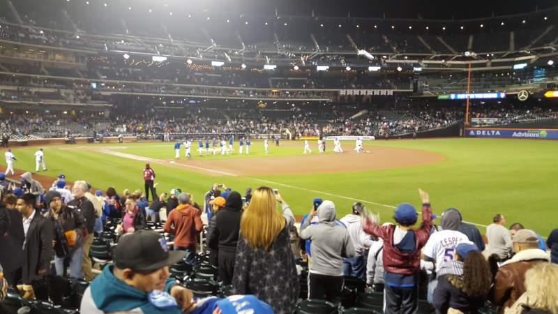 Seating view for Citi Field Section 110 Row 8 Seat 10
