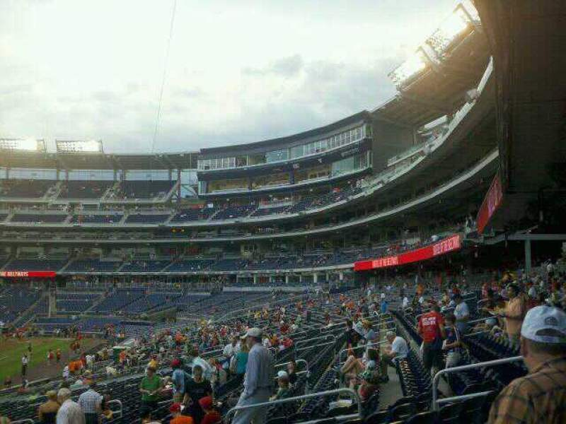 Seating view for Nationals Park Section 109 Row MM Seat 14