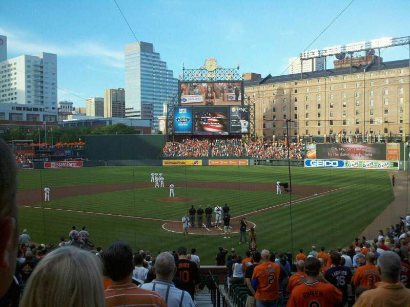 Seating view for Oriole Park at Camden Yards Section 40 Row 27 Seat 1