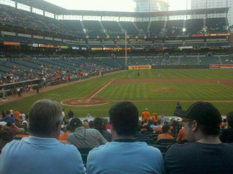 Seating view for Oriole Park at Camden Yards Section 26 Row 24 Seat 4