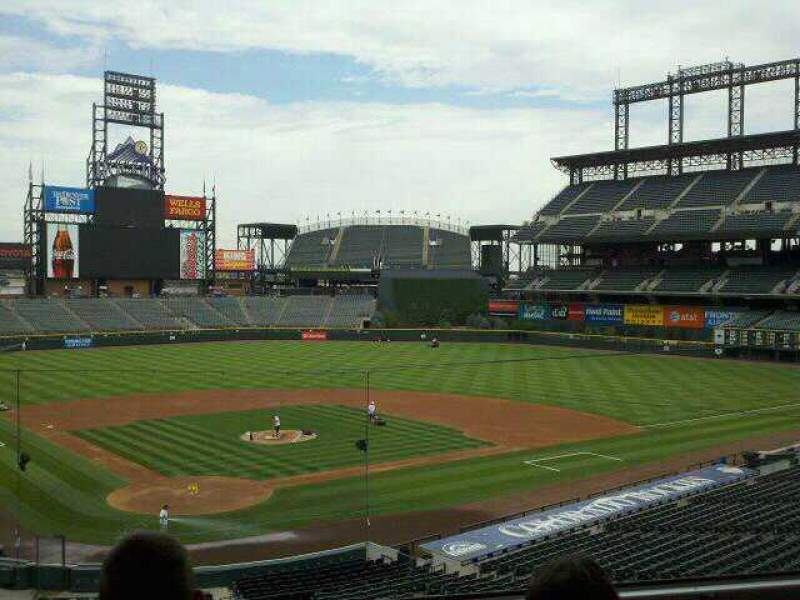 Seating view for Coors Field Section Press Box Row 2 Seat 2