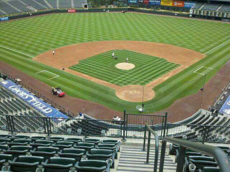 Seating view for Coors Field Section 332 Row 6 Seat 1