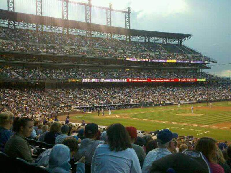 Seating view for Coors Field Section 120 Row 29 Seat 1