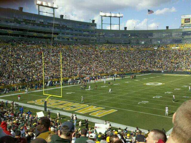 Seating view for Lambeau Field Section 133 Row 35 Seat 20