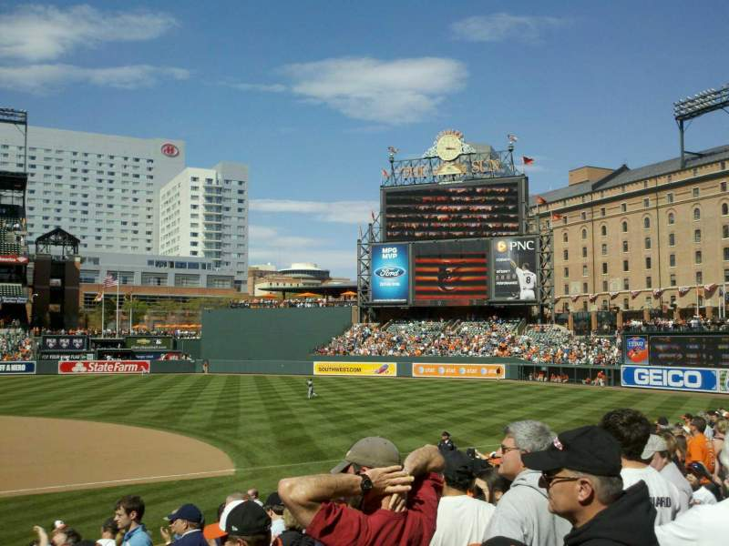 Seating view for Oriole Park at Camden Yards Section 20 Row 15 Seat 12