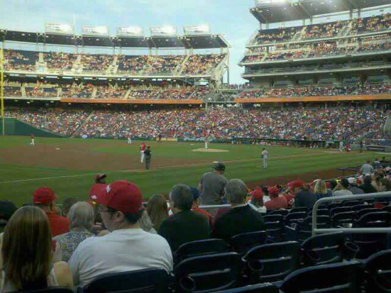Seating view for Nationals Park Section 112 Row T Seat 6