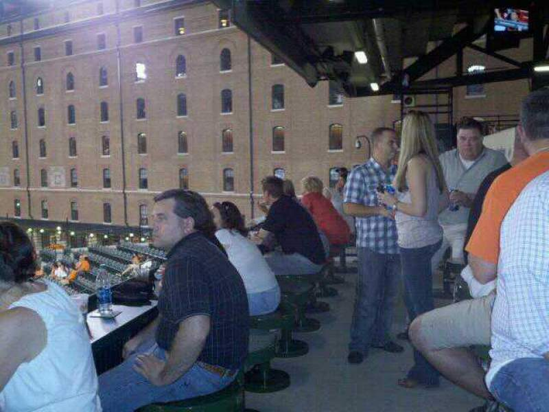 Seating view for Oriole Park at Camden Yards Section Miller Lite Flite Deck